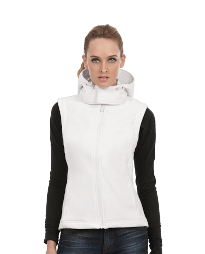 HOODED SOFTSHELL GILET women